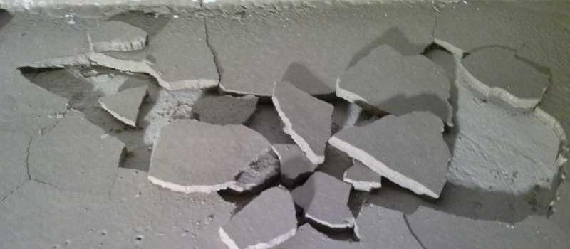 Бухтение стяжки бетонного пола: как выглядит и как появляется